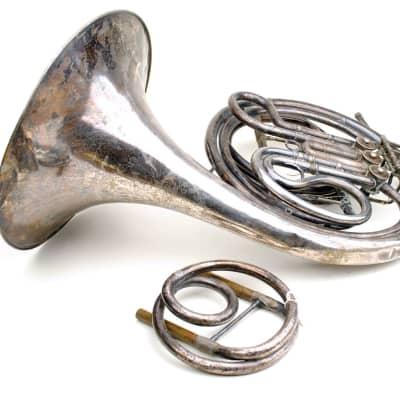 Rare Antq French Horn Ed Kruspe German Single F Horn Model 4029 with Alt E-Flat Crook~USQMC~REDUCED!