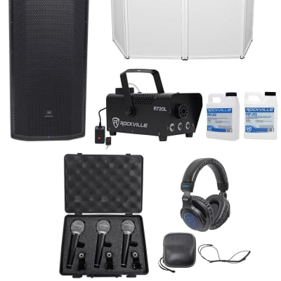 """b4f5198751d JBL Pro PRX825W Dual 15"""" 1500w Powered Speaker+Facade+Headphones+3)"""
