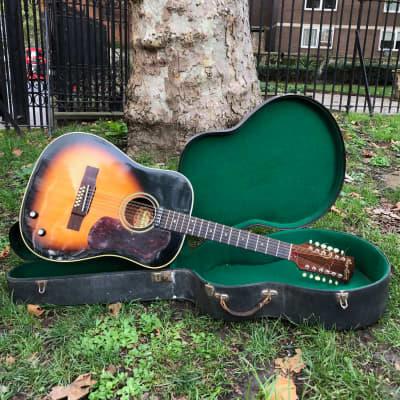 Hagstrom 12 String Acoustic , Bowie Spec  1966  Sunburst for sale