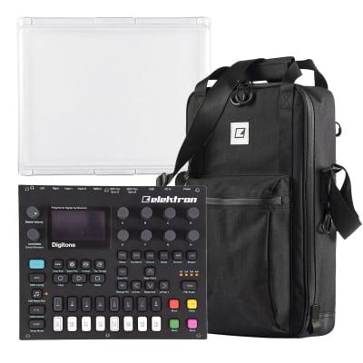 Elektron Digitone 8-Voice Digital Synthesizer, ECC-7 Carry Bag, and PL-2s Protective Lid Essentials Bundle