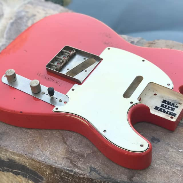 Real Life Relics Tele Telecaster Body  Fiesta Red image