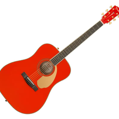 Fender FSR PM-1E Dreadnought Acoustic - Fiesta Red for sale