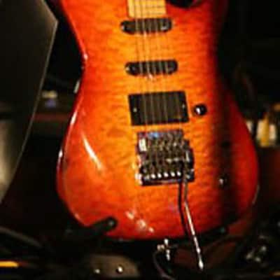 One Of A Kind DeMarino  Stratocaster EMG Pickups 1989 Cherry Sunburst for sale