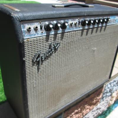 "1974 Fender Silverface  Vibrolux Reverb 2-Channel 35-Watt 2x10"" Guitar Combo Amp - All Original"