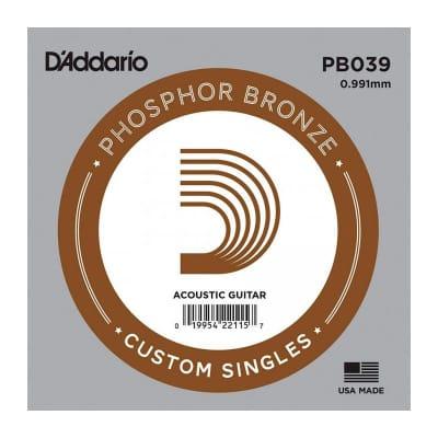 D'Addario Phosphor Bronze Acoustic Single String PB039