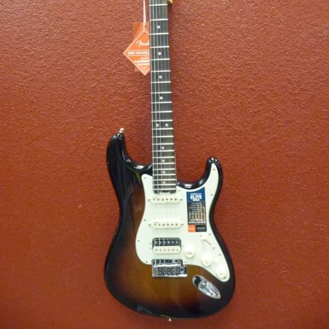Fender  American Elite Stratocaster HSS 3 Color Sunburst, Ebony Fingerboard, w/Hardcase image