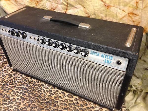 Fender Super Reverb 1968 Head Blackline Silverface