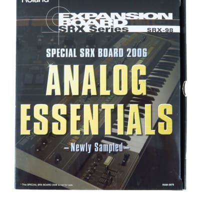 ROLAND SRX-98 ANALOG ESSENTIALS Special SRX Fantom X XR S Fa XV 5080 5050