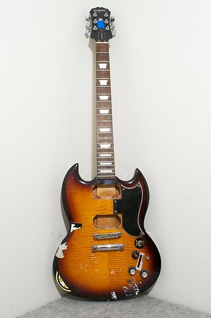 epiphone g 400 sg electric guitar for parts sunburst reverb. Black Bedroom Furniture Sets. Home Design Ideas