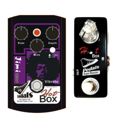 Hot Box HB-VB5 Gen4 Jimi Zero Hendrix Sound Uni Vibe + Hot Box SB-5 Booster Pedal Ships Free