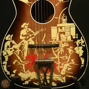 Harmony H1057 Singing Cowboy Sunburst With Print