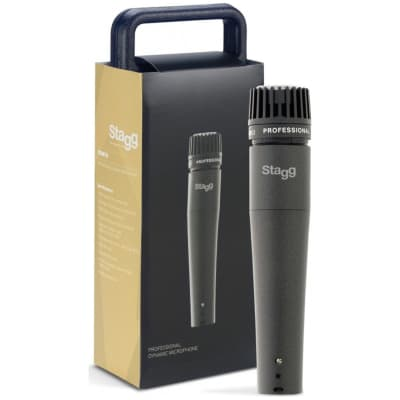 Stagg SDM70 SM57 STYLE Dynamic Instrument Microphone w Cable AND CASE 2016 Dark Grey