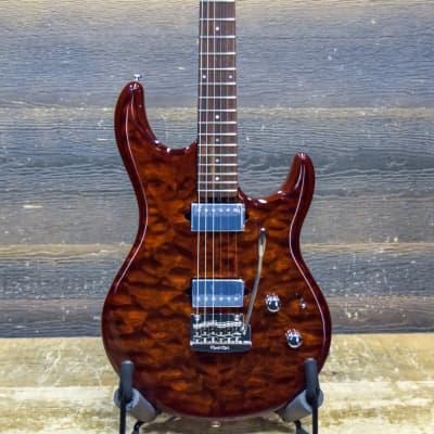 Ernie Ball Music Man Luke III BFR Hazel Burst Quilt HH Electric Guitar w/Case #G91023