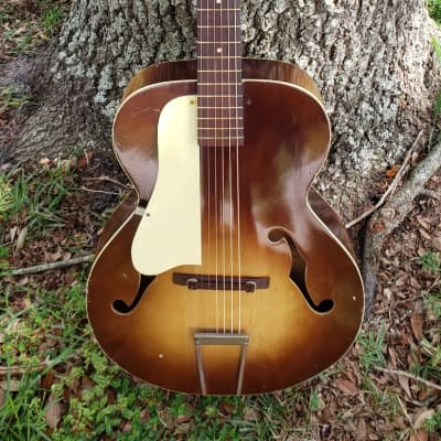 Lefty Old Kraftsman Archtop guitar left handed fresh set-up for sale
