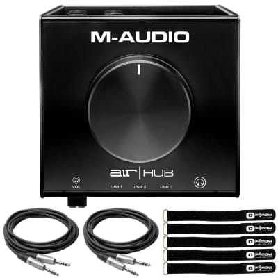 M-Audio AIR Hub USB Monitoring Interface with Built-In 3-Port Hub & TRS Cables