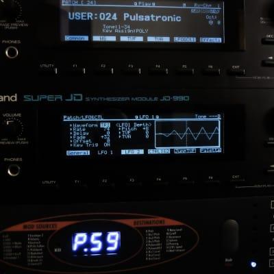 Roland JD-990 (NEW) Custom Negative Black LED Display !