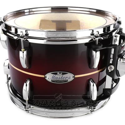 Pearl Masters Maple Complete 12x9 Tom - Natural Banded Redburst