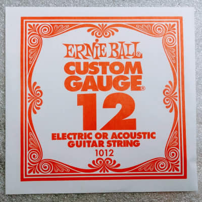Ernie Ball Plain String Nickel for Acoustic/Electric .012