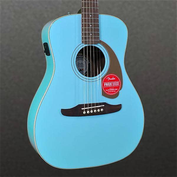 Fender Malibu Player Acoustic Guitar Aqua Splash | Reverb