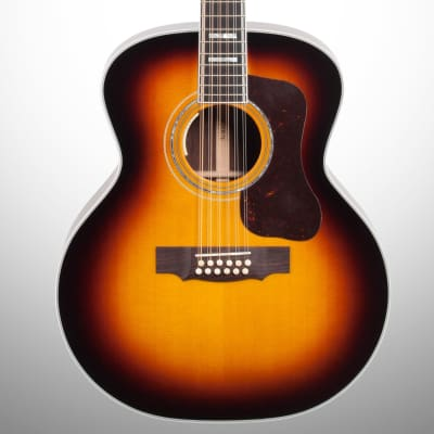 Guild F-512E Acoustic-Electric Guitar, 12-String (with Case), Antique Burst for sale