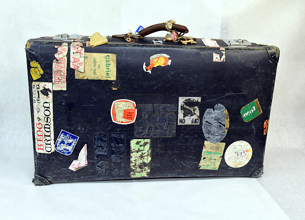 Globetrotter Suitcase Genesis Paul Simon Peter Gabriel King Crimson Owned By Tony Levin