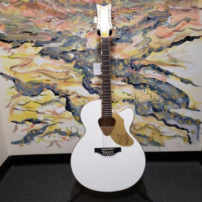 Gretsch G5022CWFE-12 Rancher Falcon Jumbo 12-String Acoustic-Electric Guitar White for sale