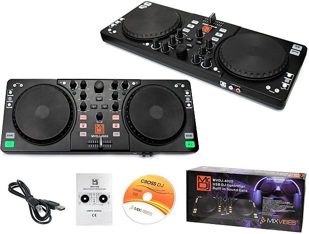 MR DJ MVDJ-4000 DUAL MIXING CHANNELS USB DJ CONTROLLER WITH BUILT-IN SOUND  CARD