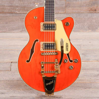 Gretsch G5655TG Electromatic Center Block Jr. Orange w/Bigsby & Black Top Broad'Tron Pickups USED