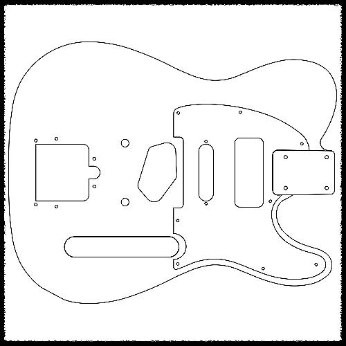 Telecaster Guitar Routing Templates - 1/4\