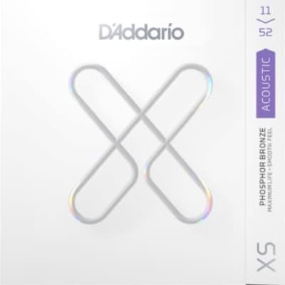 D'Addario XS Acoustic Phosphor Bronze Strings Custom Light 11-52 XSAPB1152