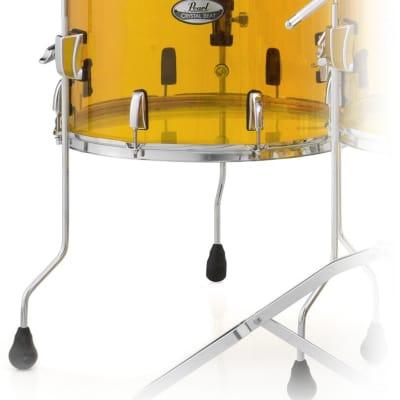 Pearl Crystal Beat Acrylic Floor Tom 14x13 Tangerine Glass