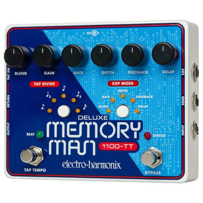 Electro Harmonix Deluxe Memory Man W/Tap Tempo 1100ms Analog Delay Pedal for sale