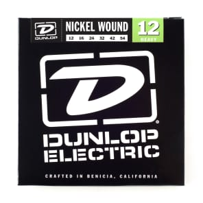 Dunlop DEN1254 Nickel-Plated Steel Heavy .012-.054 Electric Guitar Strings (6 Set)