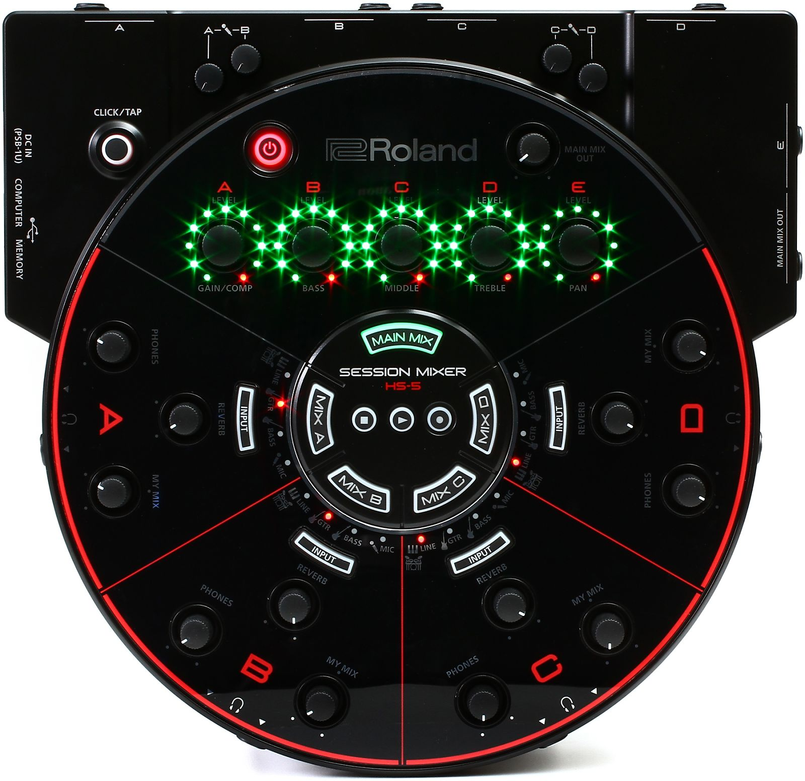 Roland hs 5 session mixer reverb for Sweetwater affiliate program