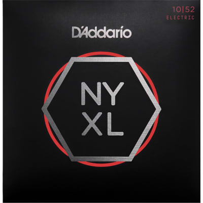 D'Addario NYXL1052 Nickel Wound Electric Strings -.010-.052 Light Top/Heavy Bottom