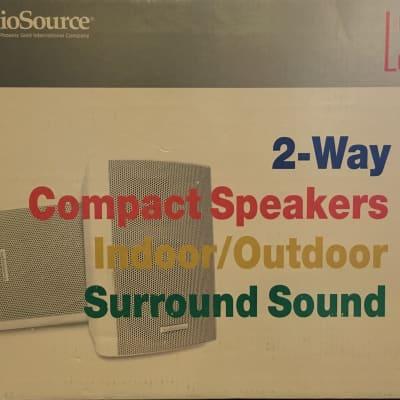 AudioSource LS 545 2-Way Compact Speakers (Pair), Indoor/Outdoor, Surround Sound, Passive, In Box