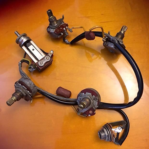 Gibson Es-335 wiring harness 500k 1968 original vintage 330 riviera on