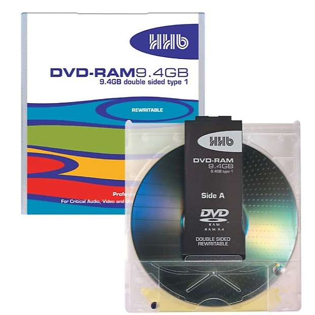 Hhhb: HHB DVD-RAM 9.4GB Professional Double Sided TYPE 4 In