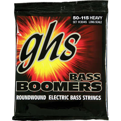 GHS H3045 Long Scale Heavy Gauge Bass Boomers Roundwound Electric Strings (50-115)