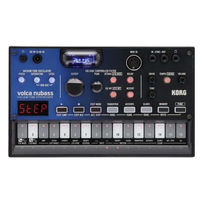 Korg Volca NuBass Vacuum Tube Synthesizer, 16-Step Sequencer, Tube Driven