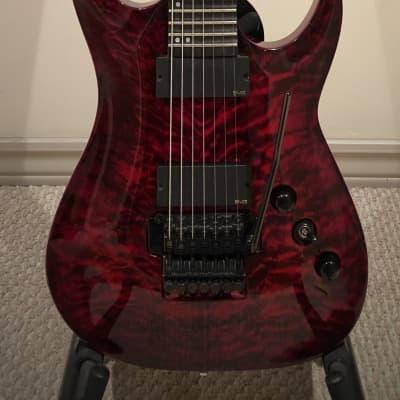 Agile Interceptor Pro 727 - 7 string guitar in Tribal Red for sale