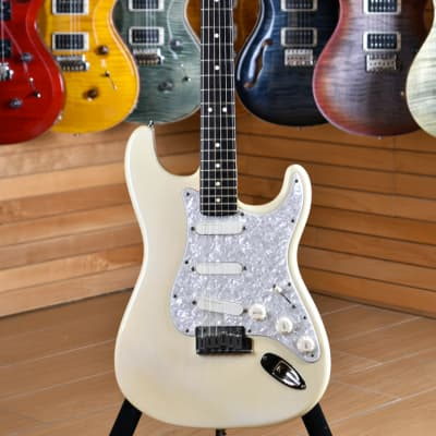 Fender American Standard Stratocaster Rosewood Neck Olympic White with Lace Sensor Plus & Meccaniche Spertzel for sale