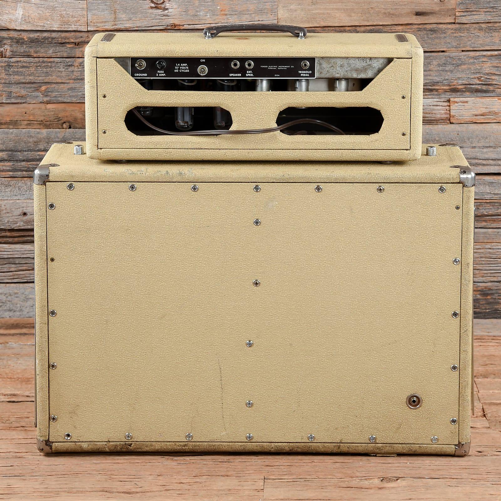 Fender Tremolux-Amp Piggyback White 1962 (s964)