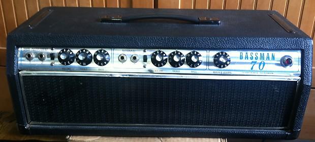 vintage fender bassman 70 guitar or bass amplifier head reverb. Black Bedroom Furniture Sets. Home Design Ideas