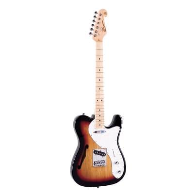 SX Electric Guitar TC Hollow, Swamp Ash - Sunburst for sale