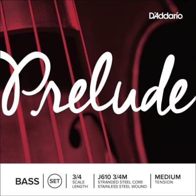 D'Addario J610-34M Prelude 3/4-Scale Upright Bass Strings - Medium