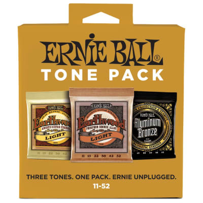 Ernie Ball Light 11-52 Acoustic Guitar String Tone Pack