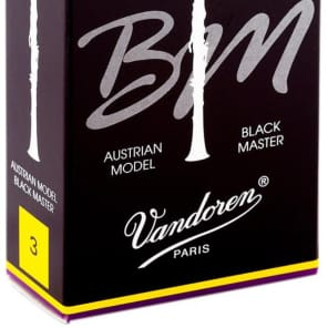 Vandoren CR183T Black Master Traditional Bb Clarinet Reeds - Strength 3 (Box of 10)