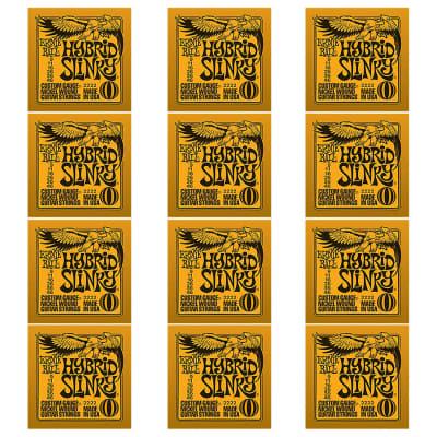 ERNIE BALL Hybrid Slinky Nickel Wound Electric Guitar Strings (2222) - 12 Pack