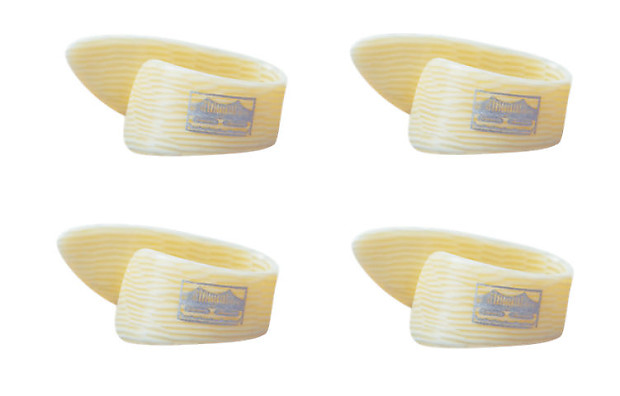 Golden Gate Gp 10 Grained Ivoroid Thumb Pick Large Set Of
